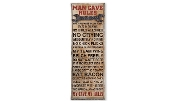 Gift Craft Man Cave Rules Wall Sign