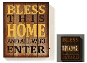 LED Lighted Novelty Sign Bless This Home Sign