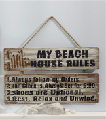 Giftcraft Distressed Beach Design Decorative Wall Sign