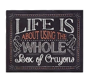 Gift Craft Life is About Canvas Stretched Print Chalkboard