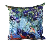 Giftcraft Satin Blue Iris Square Pillow