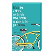 Life Is Like A Bicycle Wood Wall Sign
