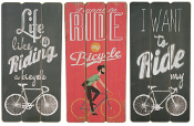 Retro Road Bike Wooden Wall Sign