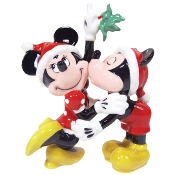 Ceramic Salt and Pepper Set, Mickey and Minnie Mistletoe