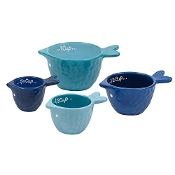 Ceramic Blue Fish Measuring Cup Set