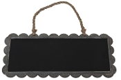 Scalloped Edge Chalk Board with Rope