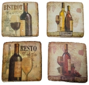 Wine Themed Drink Coasters
