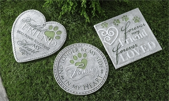 Polystone Pet Remembrance Stepping Stones