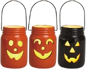 Decorative Halloween Mason Jars