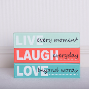Live, Laugh Love Wood Bricks