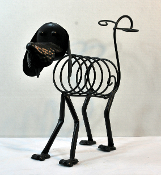 Metal Dog Shaped Wine Rack