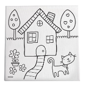 Paint & Create Canvas Kit - Home Sweet Home