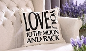 Giftcraft Decorative Throw Pillow, Love you to the moon and back