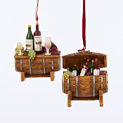 Wine Barrel Christmas Ornaments