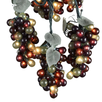 Indoor/Outdoor luster Multi Grape Light Set