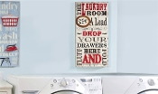 Giftcraft Mixed Media Laundry Room Wall Plaque