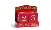 "Giftcraft MDF Red Christmas Calendar ""Countdown to Christmas"""