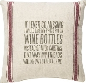 Primitives by Kathy Wine Bottles Pillow