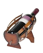 Wine Barrel Wine Bottle Holder