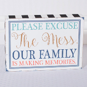 Wooden Novelty Sign, Making Family Memories