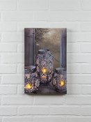 Ohio Wholesale Lighted Cut Metal Candles Canvas
