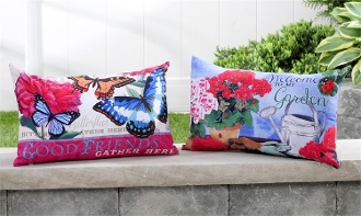 Giftcraft Decorative Outdoor Pillows, 2 Different Designs