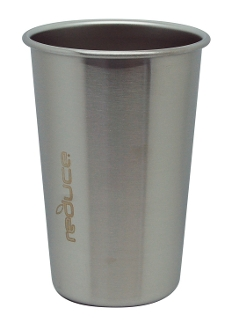 Reduce Water Tumbler, 1 pint, Steel