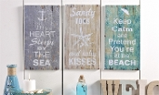 Beach Sentimental Design Wall Plaque, Choice of 3 designs
