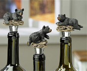 Bear Design Wine Bottle Stoppers, Set of 4