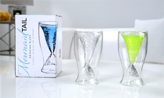 Mermaid Tail Double Walled Shot Glasse