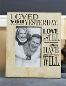 "Gift Craft ""Loved You Yesterday"" Frame"
