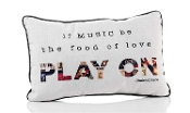 Play On, Music is the Food of Love, Decorative Throw Pillow