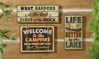 Giftcraft Lakeside Novelty Signs, Choice of 3 Designs