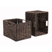 Granville Foldable 2-Pc Tall Baskets Corn Husk