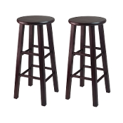 "Set of 2, 30"" Bar Stool, Square Legs, Espresso"
