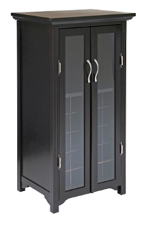 Mason Wine Cabinet holds 20 bottles, French doors