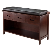 Adriana 2-Pc Storage Bench with Cushion Seat