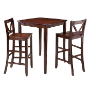 Inglewood 3-Pc High Table with 2 Bar V-Back Stools