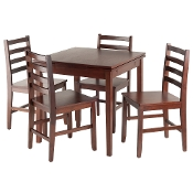 Pulman 5-PC Set Extension Table with Ladder Back Chairs