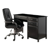 Delta 2-PC Set Office Desk w/ High Back Chair