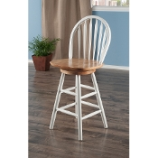 "Windsor Swivel Stool, 24"", Single, RTA"