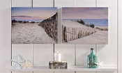Giftcraft Sand Dunes Design Cavnas Wall Prints, Set of Two