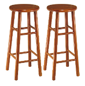 "Set of 2, Beveled Seat, 30"" Stool, Assembled"