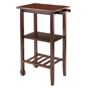 Stevenson Kitchen Cart with 2 wood wheels