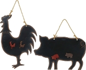 Magnetic Chalkboard Signs, Pig or Rooster Designs