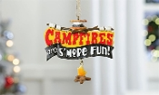 Polyresin Camping Sentiment Ornament