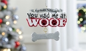 Polyresin Personalized Dog Bone Design Ornament