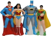 Batman, Wonder Woman, Rob and Superman, Shaker Set