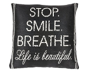 Ganz 'Stop. Smile. Breath. Life Is Beautiful' Pillow