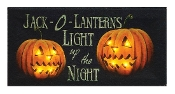 Halloween LED Lighted Jack O'Lanterns Pumpkin Canvas Print